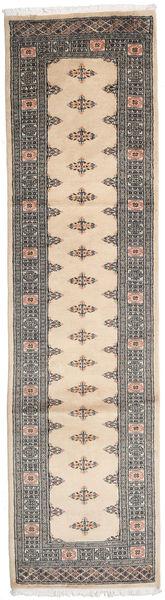 Pakistan Bokhara 2Ply Teppe 80X309 Ekte Orientalsk Håndknyttet Teppeløpere Beige/Lys Grå (Ull, Pakistan)