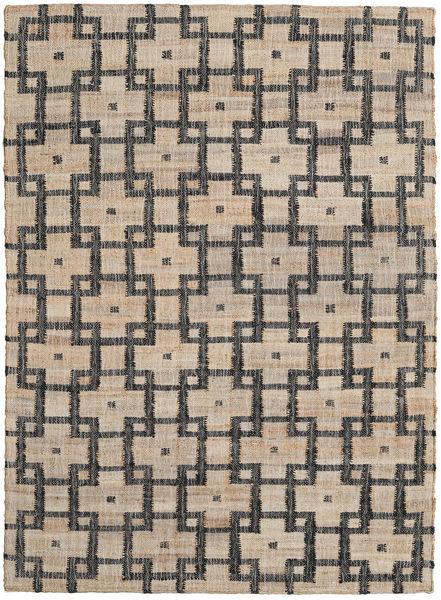 Utendørsteppe Tudor Teppe 160X230 Ekte Moderne Håndvevd Lys Grå/Mørk Grå (Juteteppe India)