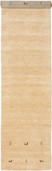 Gabbeh Loom Two Lines - Beige Teppe 80X450 Moderne Teppeløpere Lysbrun/Mørk Beige (Ull, India)