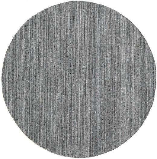 Petra - Dark_Mix Teppe Ø 200 Ekte Moderne Håndvevd Rundt Lys Grå/Mørk Grå/Blå ( India)