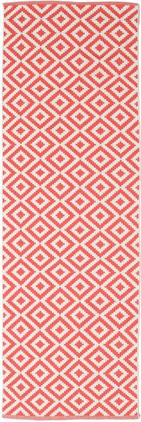 Torun - Coral/Neutral Teppe 80X250 Ekte Moderne Håndvevd Teppeløpere Rød/Lyserosa (Bomull, India)
