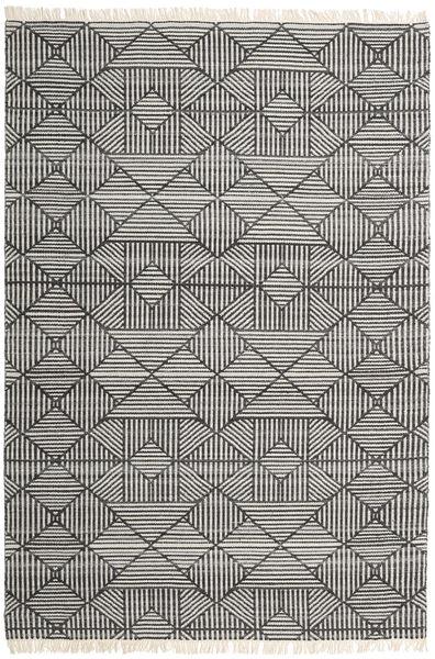 Mauri Teppe 200X300 Ekte Moderne Håndvevd Mørk Grå/Lys Grå (Ull, India)