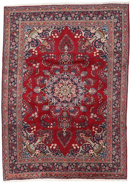 Mashad Teppe 248X344 Ekte Orientalsk Håndknyttet Mørk Rød/Mørk Lilla (Ull, Persia/Iran)