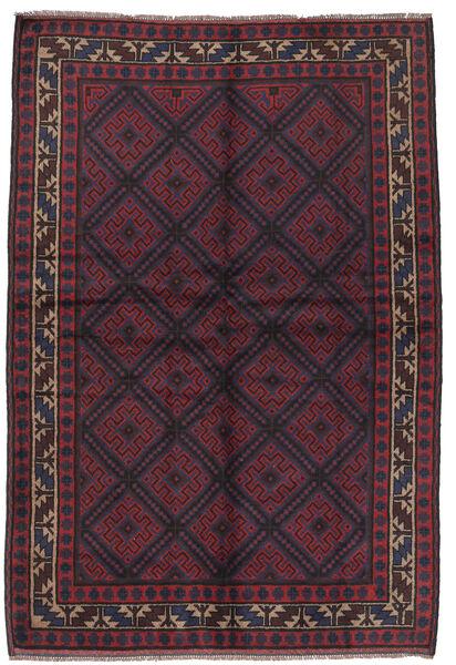Beluch Teppe 156X235 Ekte Orientalsk Håndknyttet Mørk Blå/Mørk Rød (Ull, Afghanistan)