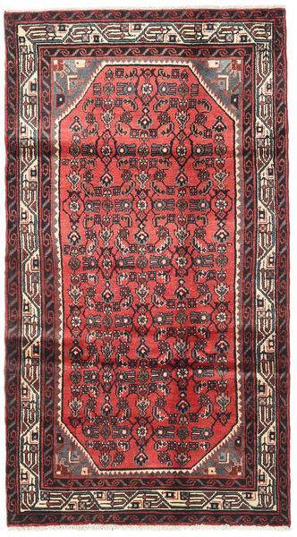 Hosseinabad Teppe 103X190 Ekte Orientalsk Håndknyttet Mørk Rød/Rust (Ull, Persia/Iran)