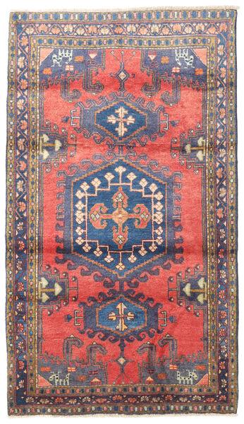 Wiss Teppe 110X190 Ekte Orientalsk Håndknyttet Svart/Lyselilla (Ull, Persia/Iran)