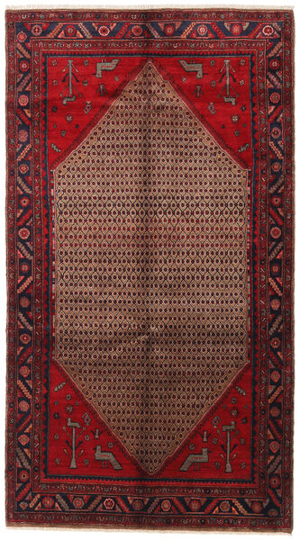 Songhor Teppe 154X275 Ekte Orientalsk Håndknyttet Mørk Rød (Ull, Persia/Iran)