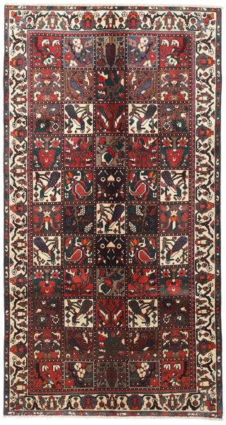 Bakhtiar Teppe 155X290 Ekte Orientalsk Håndknyttet Teppeløpere Mørk Brun/Mørk Rød (Ull, Persia/Iran)