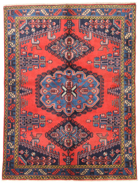 Wiss Teppe 157X210 Ekte Orientalsk Håndknyttet Mørk Lilla/Rød (Ull, Persia/Iran)