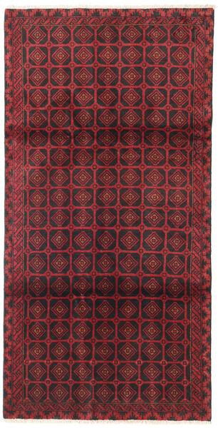 Beluch Teppe 105X195 Ekte Orientalsk Håndknyttet Mørk Rød/Mørk Brun/Rød (Ull, Persia/Iran)