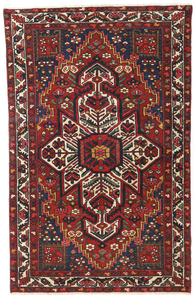 Bakhtiar Patina Teppe 122X193 Ekte Orientalsk Håndknyttet Mørk Rød/Mørk Brun (Ull, Persia/Iran)