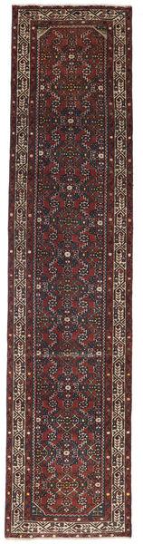 Hamadan Patina Teppe 78X340 Ekte Orientalsk Håndknyttet Teppeløpere Mørk Brun/Mørk Rød (Ull, Persia/Iran)