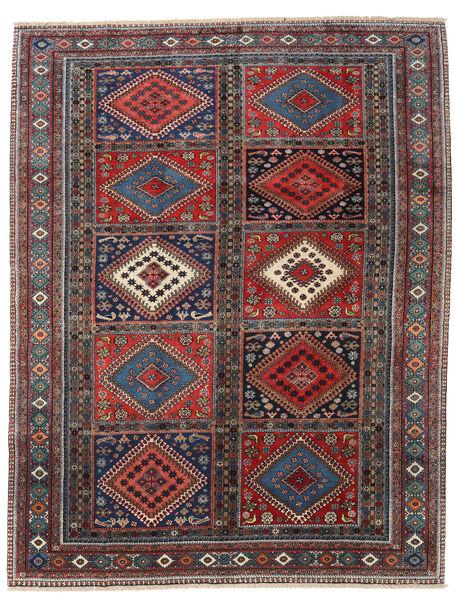 Yalameh Teppe 215X272 Ekte Orientalsk Håndknyttet Mørk Rød/Svart (Ull, Persia/Iran)