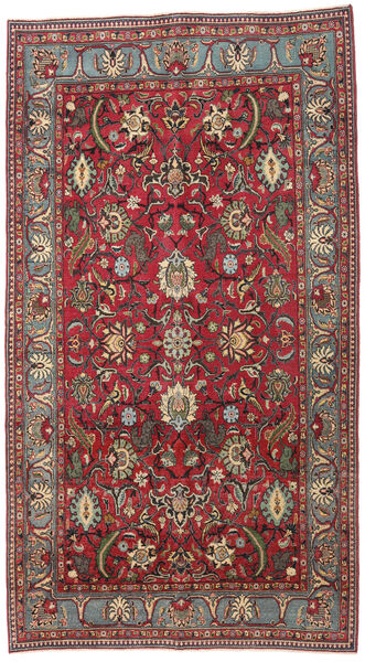 Mashad Patina Teppe 161X288 Ekte Orientalsk Håndknyttet Mørk Brun/Mørk Rød (Ull, Persia/Iran)