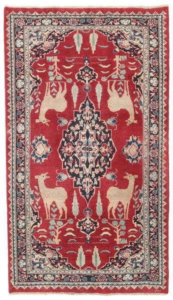 Mashad Patina Teppe 104X182 Ekte Orientalsk Håndknyttet Rød/Mørk Grå (Ull, Persia/Iran)