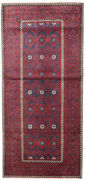 Beluch Patina Teppe 116X252 Ekte Orientalsk Håndknyttet Mørk Grå/Rød (Ull, Persia/Iran)