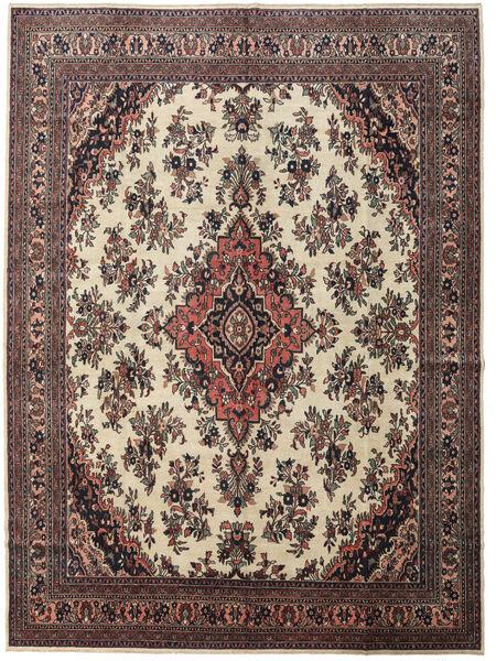 Hamadan Patina Teppe 315X425 Ekte Orientalsk Håndknyttet Mørk Brun/Mørk Rød Stort (Ull, Persia/Iran)
