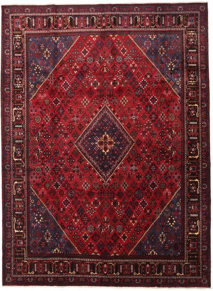 Joshaghan Teppe 293X398 Ekte Orientalsk Håndknyttet Mørk Rød/Svart Stort (Ull, Persia/Iran)