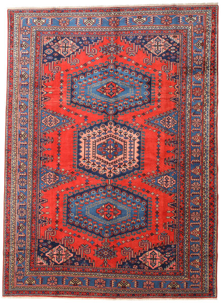 Wiss Teppe 295X406 Ekte Orientalsk Håndknyttet Mørk Grå/Mørk Rød Stort (Ull, Persia/Iran)