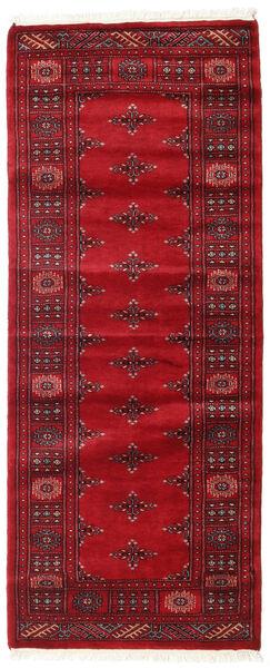 Pakistan Bokhara 3Ply Teppe 81X201 Ekte Orientalsk Håndknyttet Teppeløpere Mørk Rød/Rød (Ull, Pakistan)