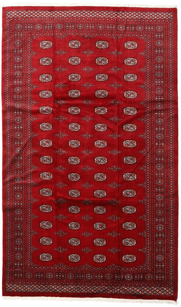 Pakistan Bokhara 3Ply Teppe 200X315 Ekte Orientalsk Håndknyttet Rød/Mørk Rød (Ull, Pakistan)