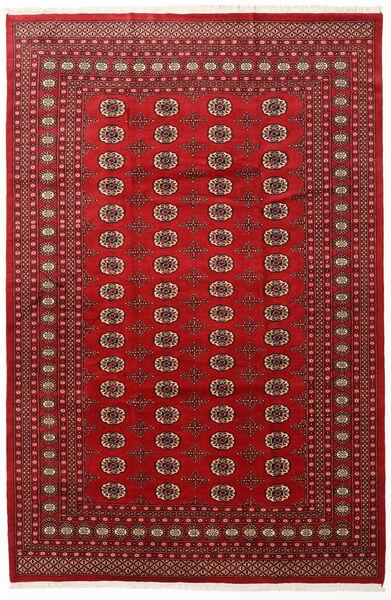 Pakistan Bokhara 2Ply Teppe 202X305 Ekte Orientalsk Håndknyttet Mørk Rød/Rød (Ull, Pakistan)