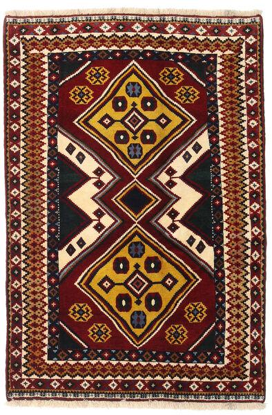 Ghashghai Teppe 127X190 Ekte Orientalsk Håndknyttet Mørk Rød (Ull, Persia/Iran)