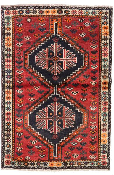 Shiraz Teppe 106X156 Ekte Orientalsk Håndknyttet Mørk Brun/Rust (Ull, Persia/Iran)