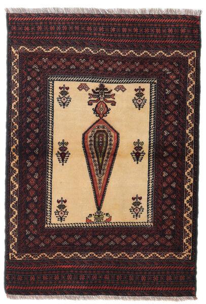 Beluch Teppe 88X126 Ekte Orientalsk Håndknyttet Mørk Rød/Mørk Brun (Ull, Persia/Iran)