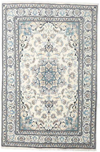 Nain Teppe 199X301 Ekte Orientalsk Håndknyttet Beige/Lys Grå (Ull, Persia/Iran)