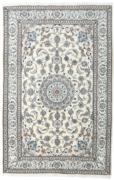 Nain Teppe 198X304 Ekte Orientalsk Håndknyttet Lys Grå/Beige (Ull, Persia/Iran)