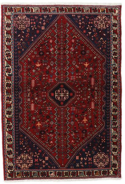 Abadeh Teppe 102X150 Ekte Orientalsk Håndknyttet Mørk Rød (Ull, Persia/Iran)