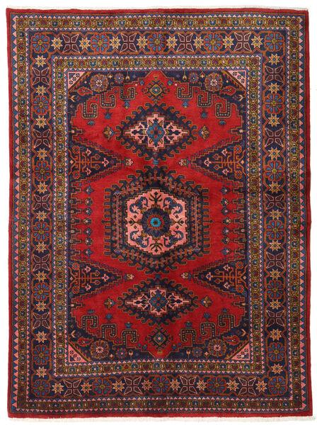 Wiss Teppe 162X220 Ekte Orientalsk Håndknyttet Mørk Rød/Mørk Lilla (Ull, Persia/Iran)