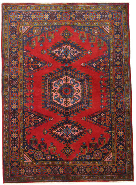Wiss Teppe 155X215 Ekte Orientalsk Håndknyttet Mørk Rød/Mørk Brun (Ull, Persia/Iran)