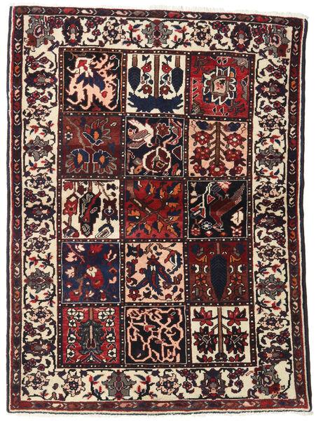 Bakhtiar Teppe 110X151 Ekte Orientalsk Håndknyttet Mørk Brun/Beige (Ull, Persia/Iran)