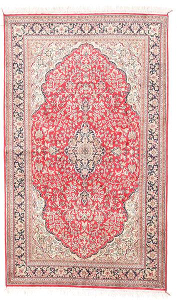 Kashmir Ren Silke Teppe 92X154 Ekte Orientalsk Håndknyttet Beige/Lyserosa (Silke, India)