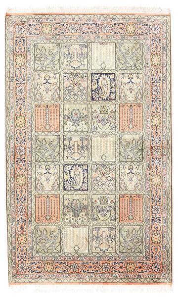 Kashmir Ren Silke Teppe 94X154 Ekte Orientalsk Håndknyttet Lys Grå/Beige (Silke, India)