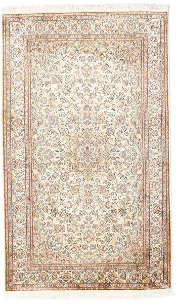 Kashmir Ren Silke Teppe 92X153 Ekte Orientalsk Håndknyttet Hvit/Creme/Lys Grå (Silke, India)