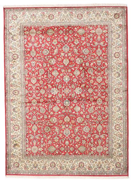 Kashmir Ren Silke Teppe 158X216 Ekte Orientalsk Håndknyttet Beige/Lys Grå (Silke, India)