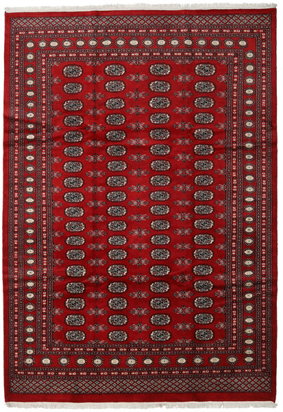Pakistan Bokhara 2Ply Teppe 210X303 Ekte Orientalsk Håndknyttet Mørk Rød/Rød (Ull, Pakistan)
