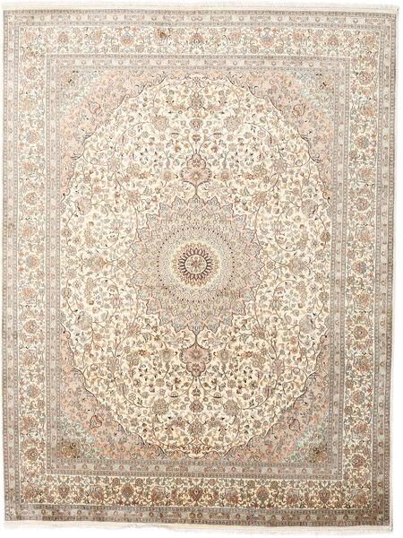Kashmir Ren Silke Teppe 243X319 Ekte Orientalsk Håndknyttet Lys Grå/Beige (Silke, India)