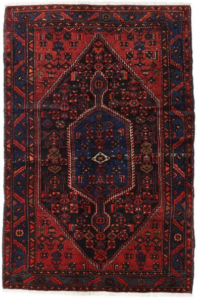 Hamadan Teppe 138X208 Ekte Orientalsk Håndknyttet Mørk Brun/Mørk Rød (Ull, Persia/Iran)
