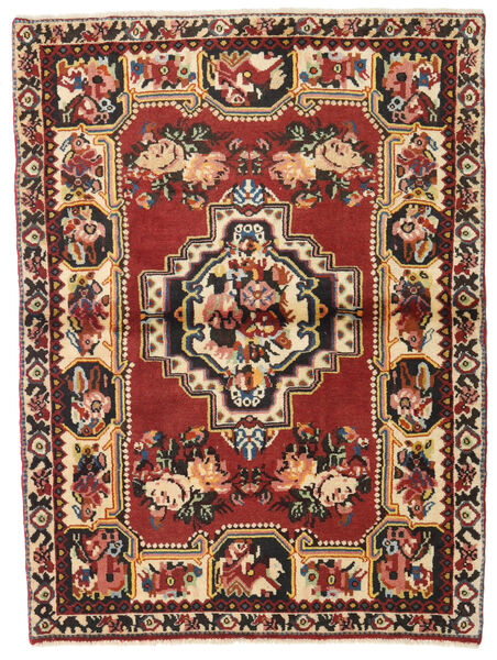 Bakhtiar Teppe 106X142 Ekte Orientalsk Håndknyttet Mørk Rød/Mørk Brun (Ull, Persia/Iran)