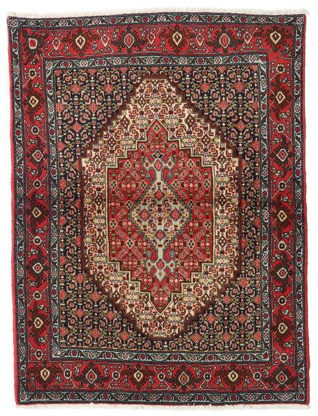 Senneh Teppe 122X164 Ekte Orientalsk Håndknyttet Mørk Rød/Mørk Grå (Ull, Persia/Iran)