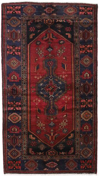 Hamadan Teppe 133X239 Ekte Orientalsk Håndknyttet Mørk Rød/Mørk Brun (Ull, Persia/Iran)