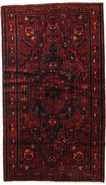 Hamadan Teppe 143X248 Ekte Orientalsk Håndknyttet Mørk Rød (Ull, Persia/Iran)