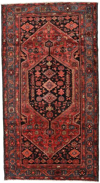 Hamadan Teppe 150X270 Ekte Orientalsk Håndknyttet Mørk Rød/Mørk Brun (Ull, Persia/Iran)