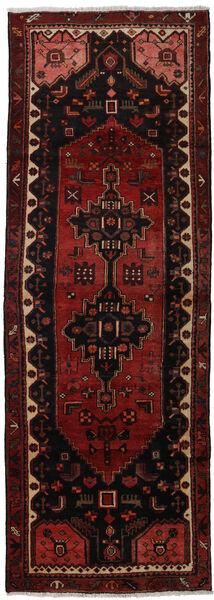 Hamadan Teppe 102X294 Ekte Orientalsk Håndknyttet Teppeløpere Mørk Rød (Ull, Persia/Iran)
