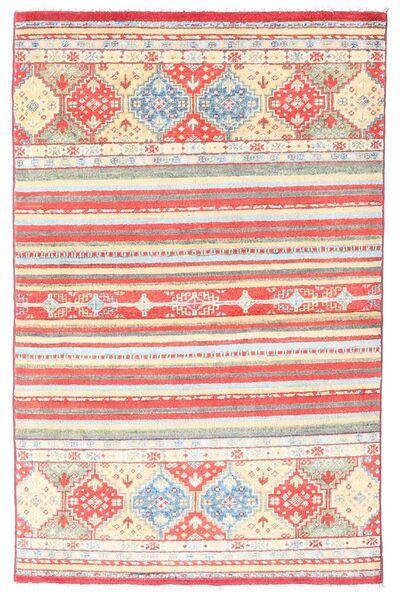 Kazak Teppe 98X155 Ekte Orientalsk Håndknyttet Lyserosa/Beige (Ull, Afghanistan)