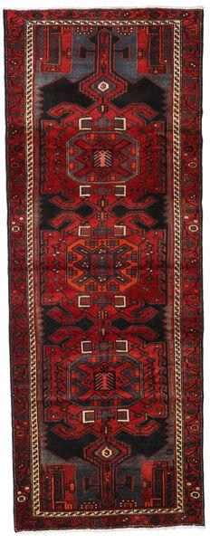 Hamadan Teppe 105X282 Ekte Orientalsk Håndknyttet Teppeløpere Mørk Rød/Mørk Brun (Ull, Persia/Iran)